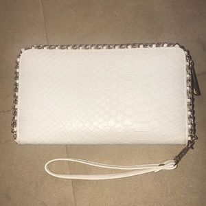 White Aldo Wallet Wristlet
